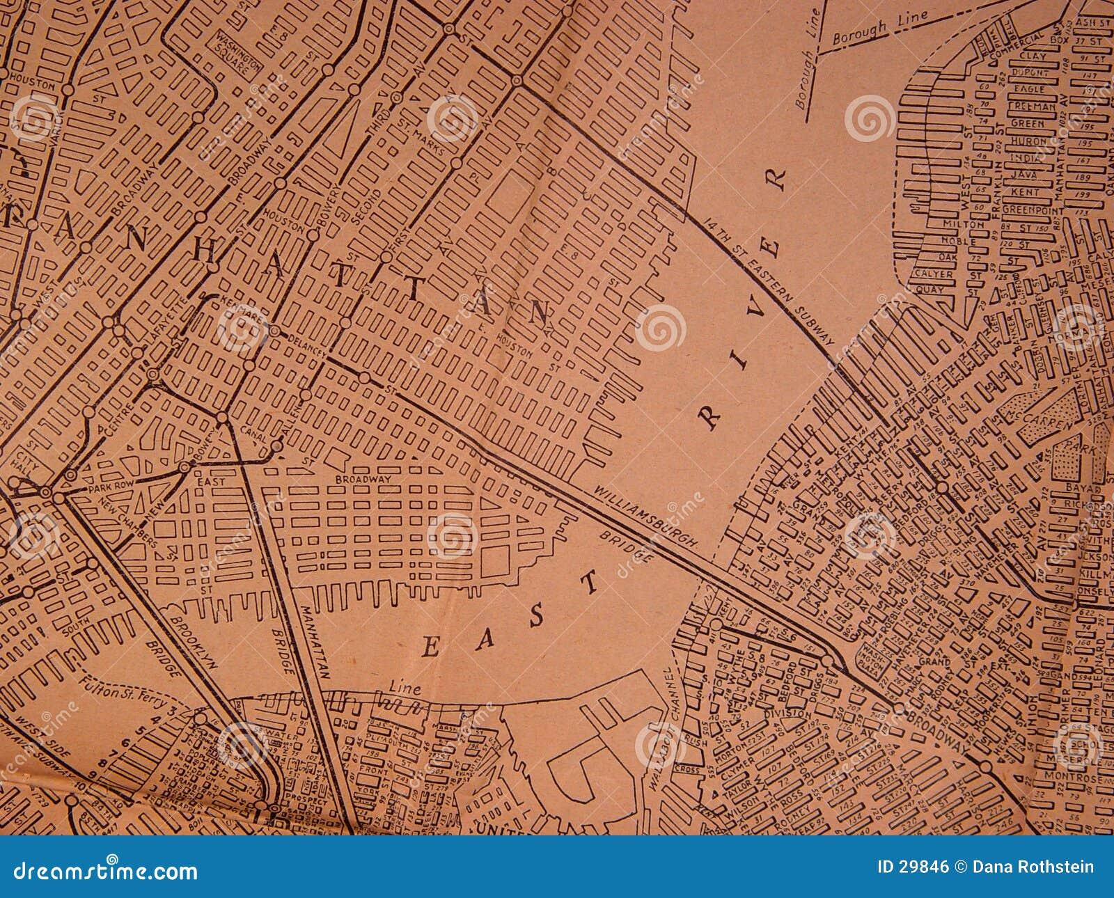 1930 NY de Kaart van het Gebied