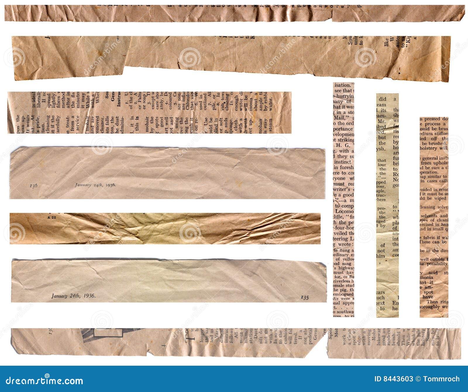 1930s Paper Strips
