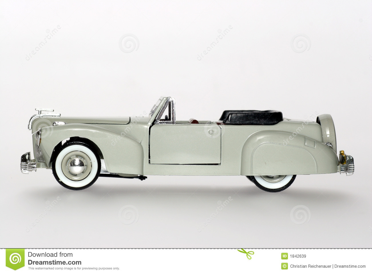 Lincoln Continental Classic Toy Car Sideview Royalty Free