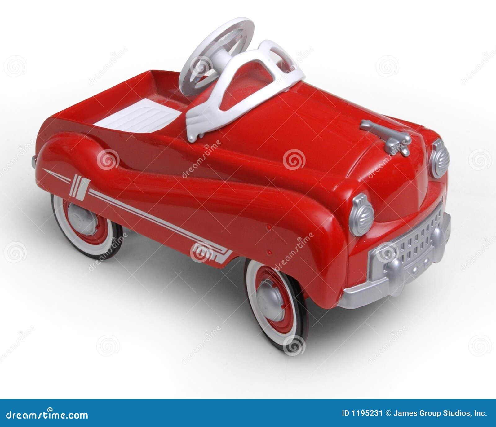 1950年汽车时代红色s玩具