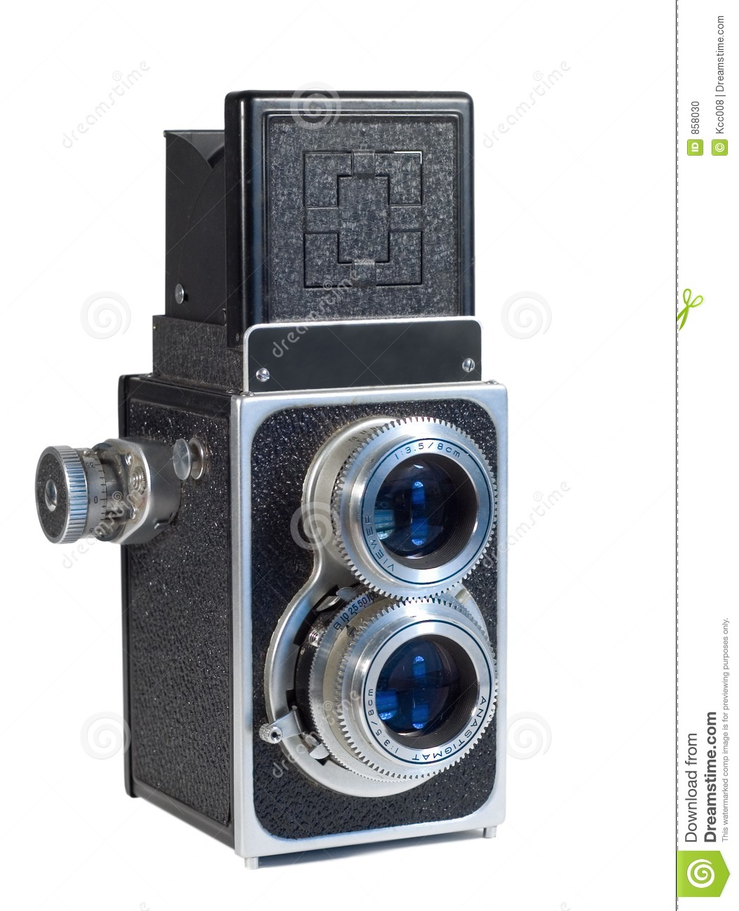 1950 camera isolated s vintage white