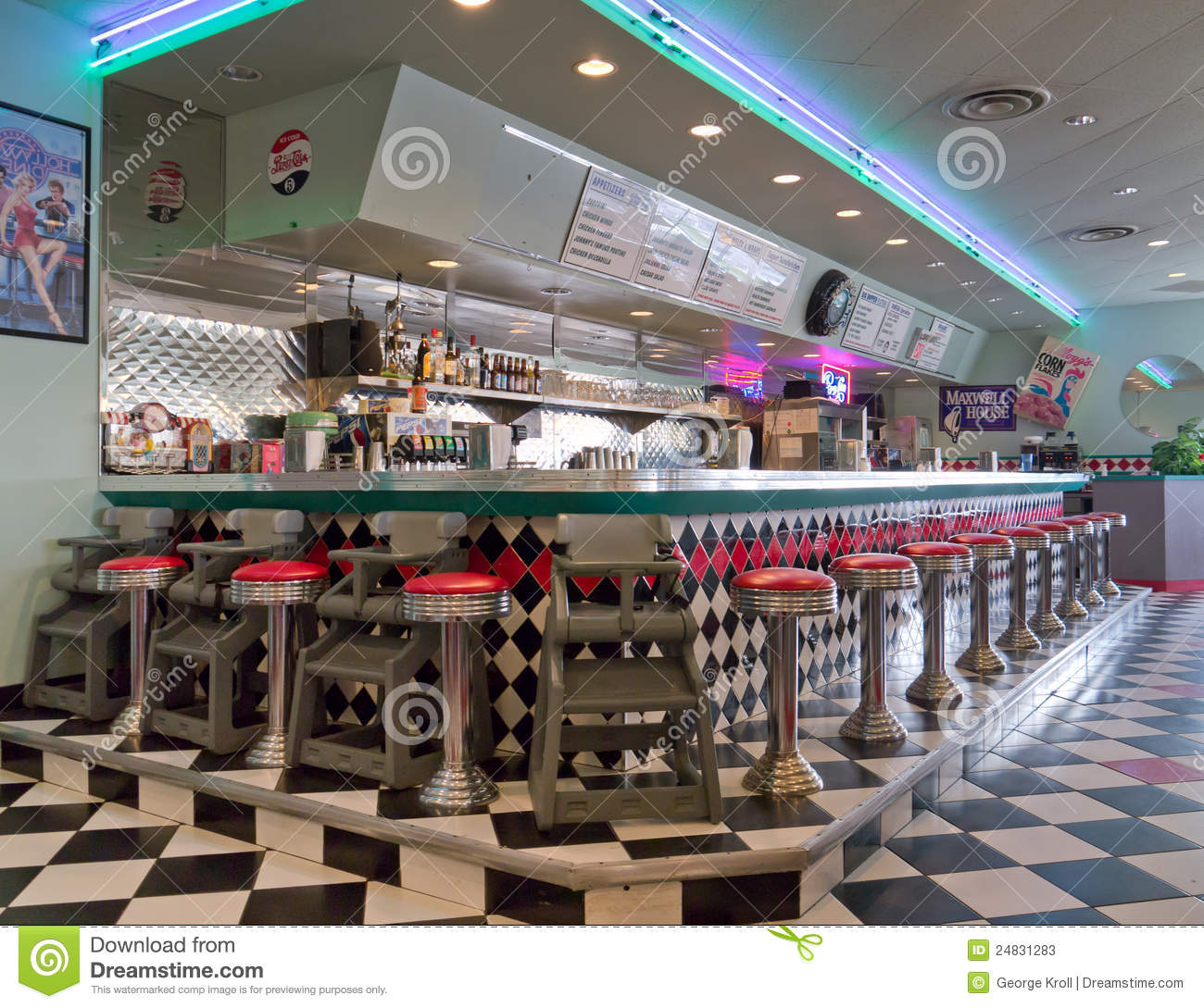 1950 Style Old Restaurant Editorial Stock Photo Image Of