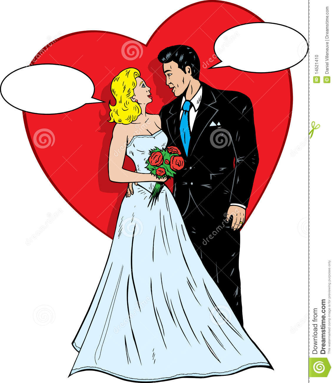 1950s Comic Book Wedding Stock Vector Image Of Gown