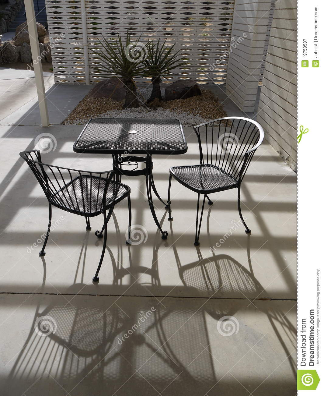 1950s Modernist Garden Table And Chairs Stock Image Image Of Metal Landscaping 19759587