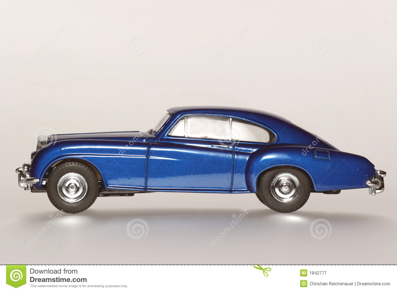 Bentley R Continental Classic Toy Car Sideview Royalty Free