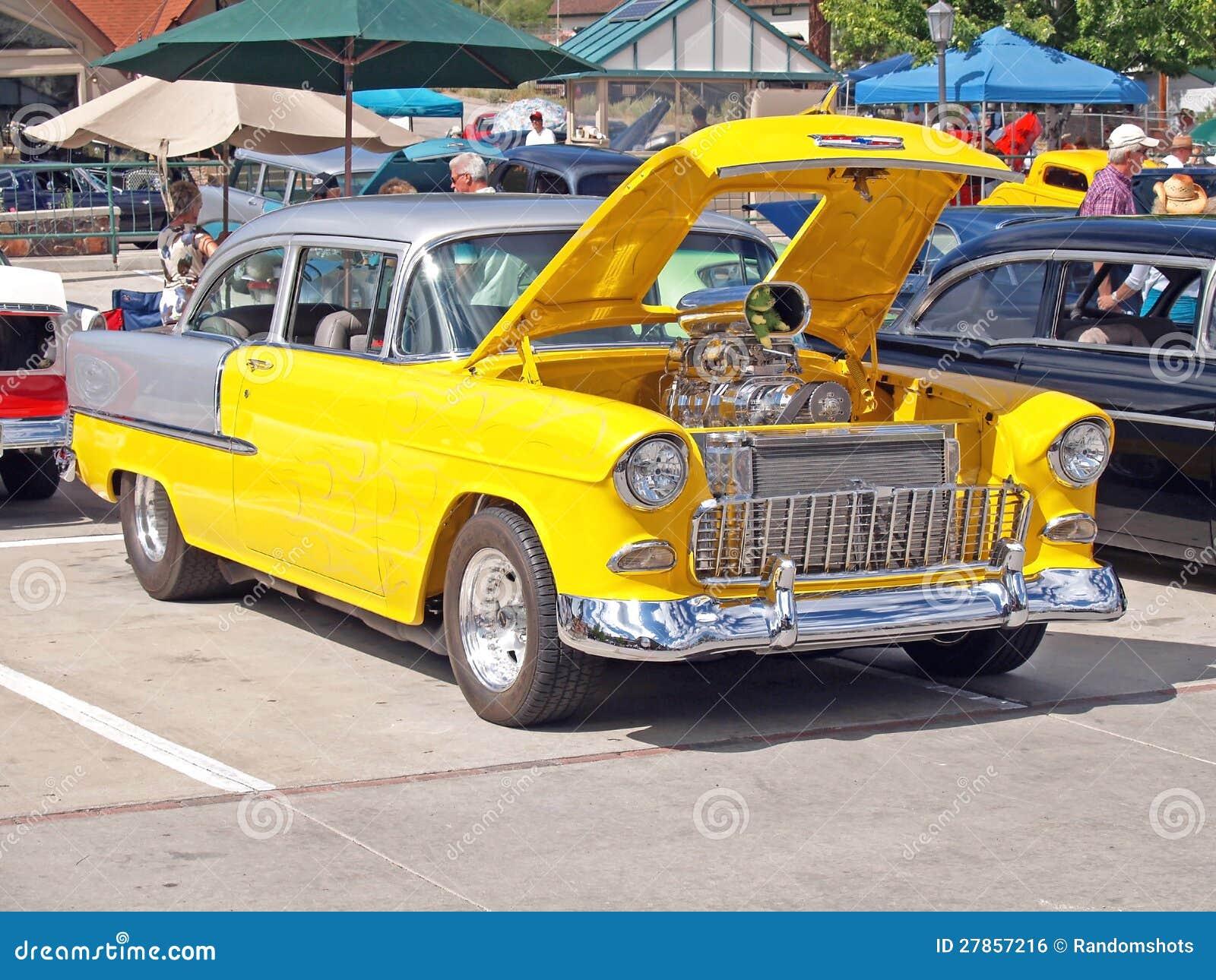 1955 Chevroleta Bela Powietrze