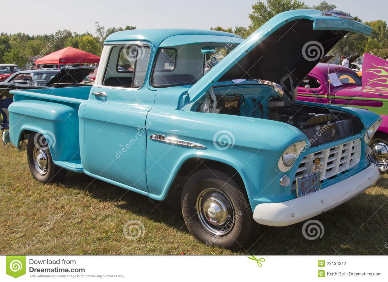 1955 Chevy Aqua Blue Truck Editorial Photography - Image ...