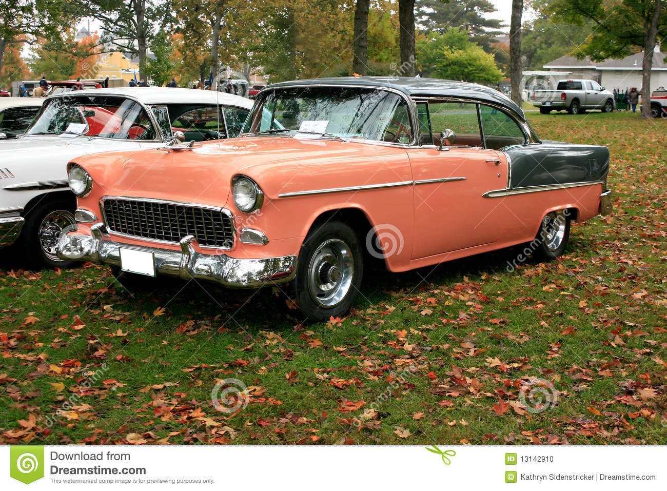 1955 chevy bel aire hardtop stock photo image 13142910 for Peach auto painting