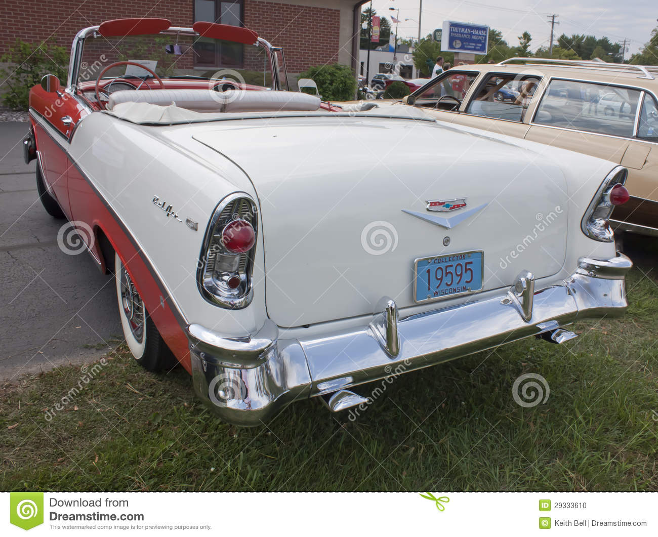 Convertible 1956 chevy bel air convertible : 1956 Chevy Bel Air Rear View Editorial Image - Image: 29333610