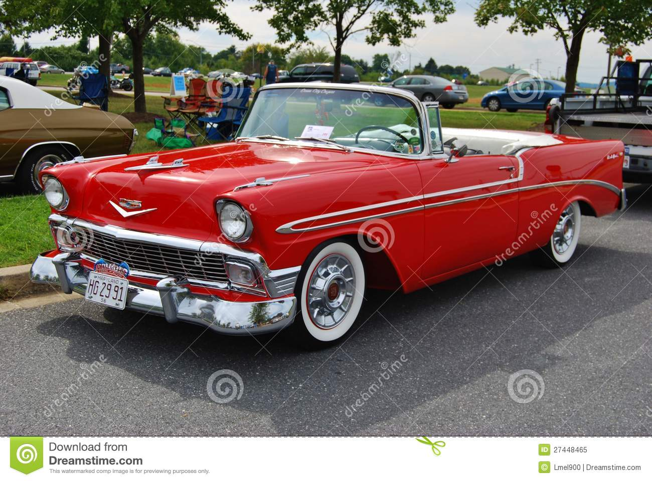 1956 Convertible Chevrolet Bel Air Editorial Image - Image ...