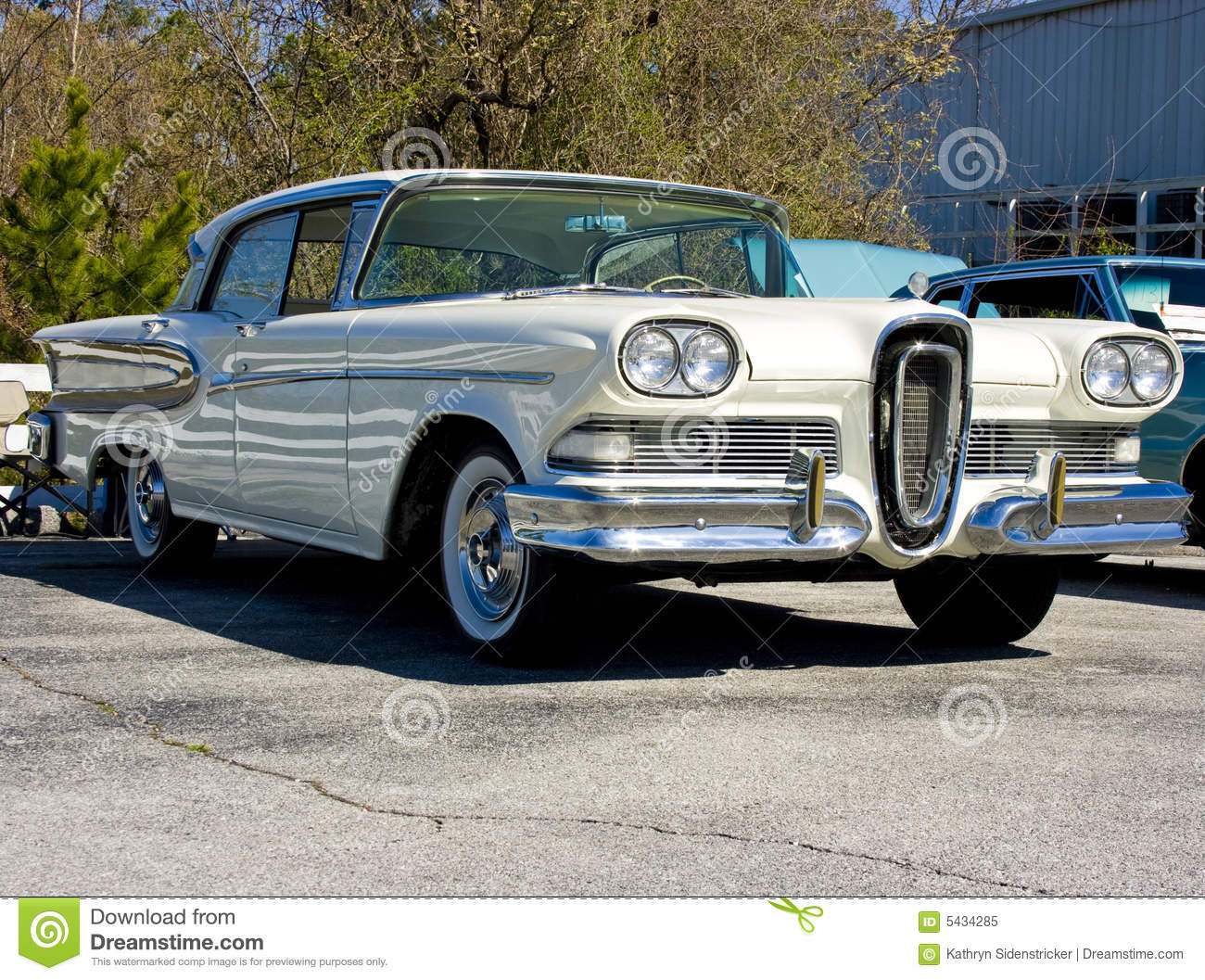 1958 Ford Edsel Stock Image Image Of Automobile Street
