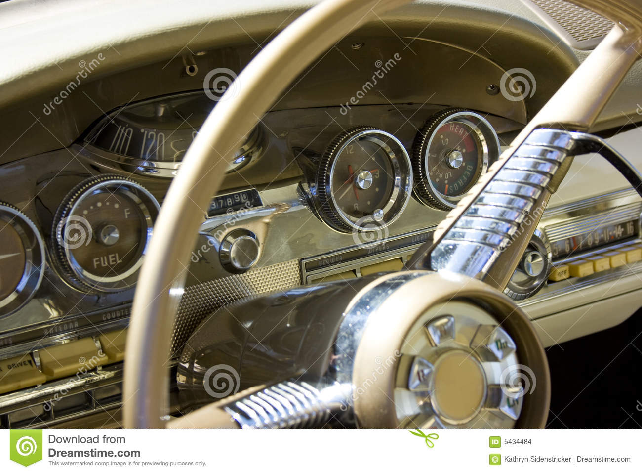 1958 Ford Edsel Dash Amp Steering Wheel Stock Photo Image