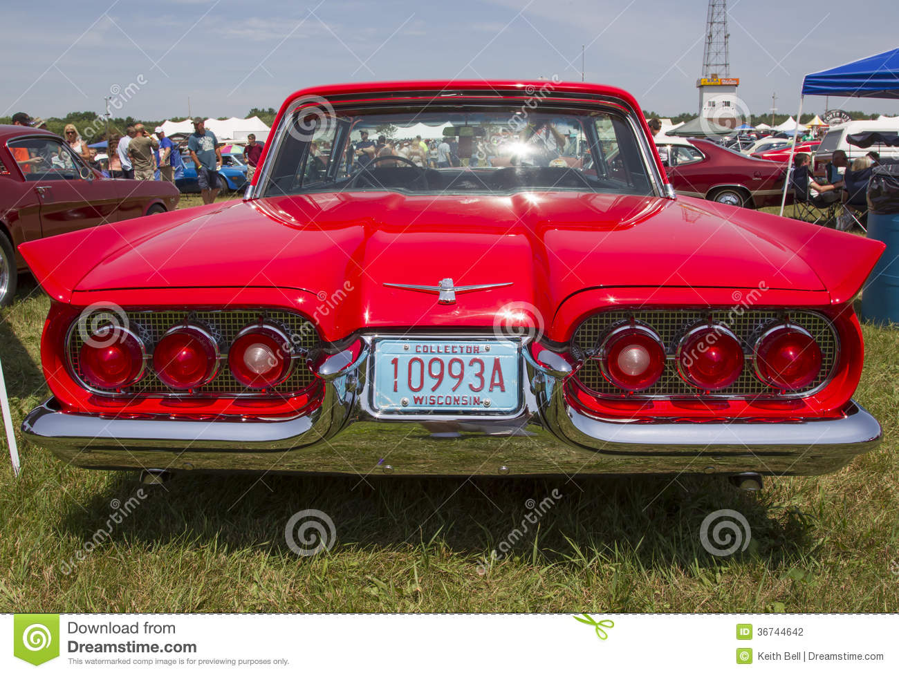 1960 red ford thunderbird hardtop convertible back view editorial photography image 36744642. Black Bedroom Furniture Sets. Home Design Ideas