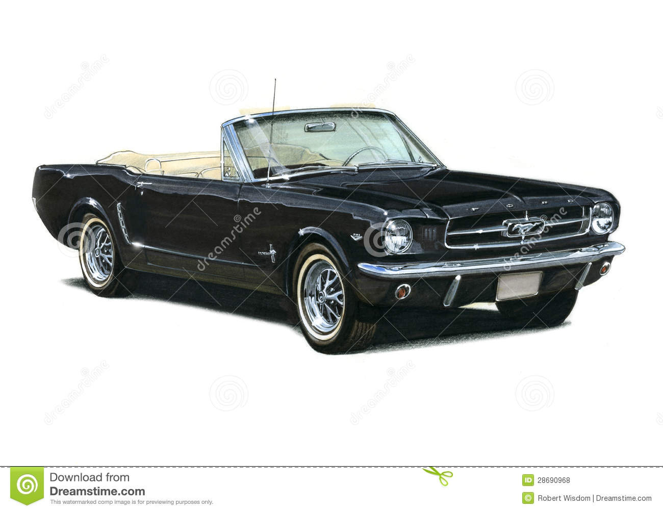 1964 Ford Mustang Coupe editorial stock photo. Image of ...