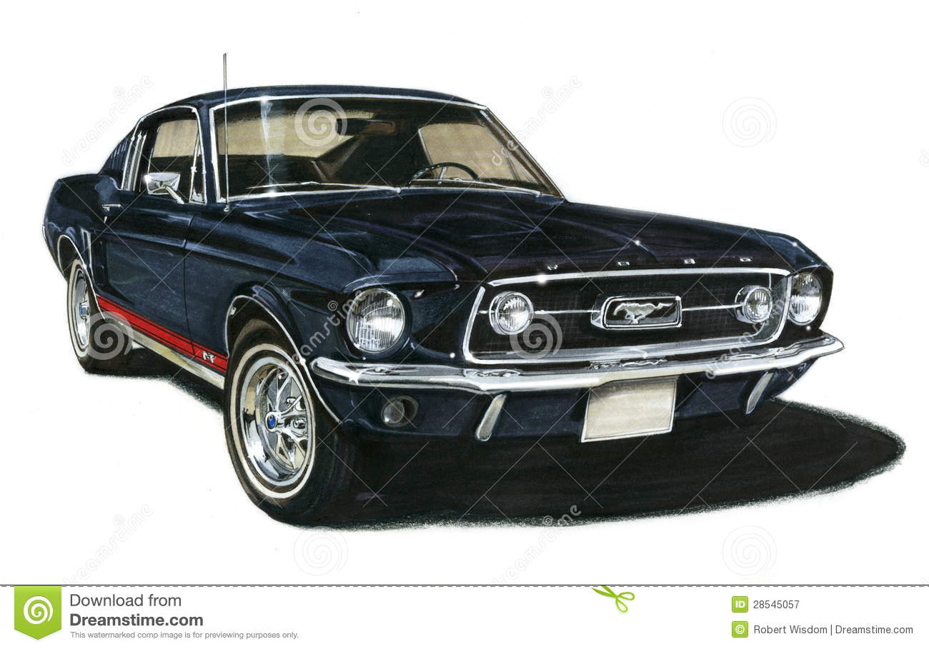 1967 Ford Mustang Gt Fastback Editorial Photography Illustration