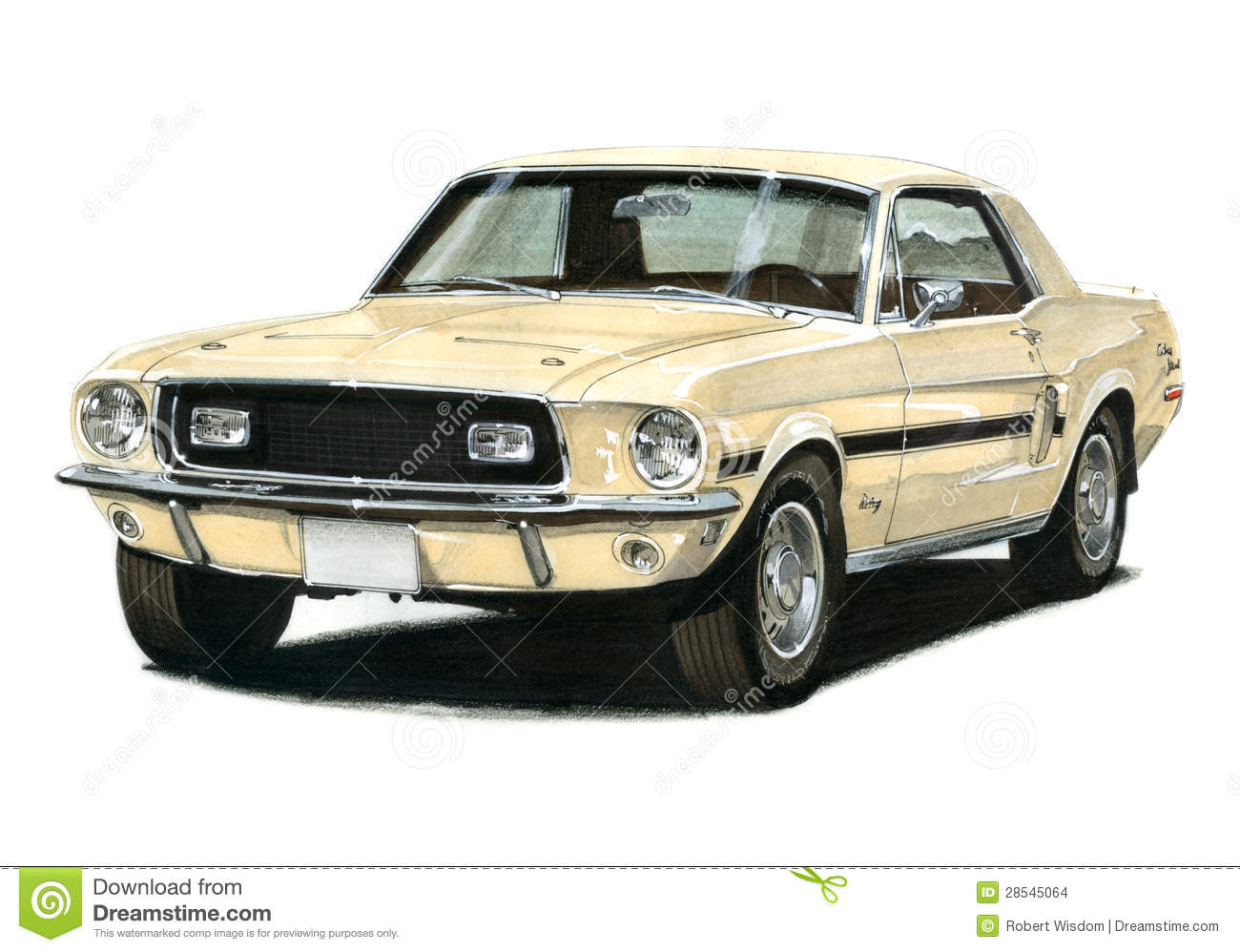 1968 1 2 Ford Mustang Gt Cs Editorial Stock Image Image