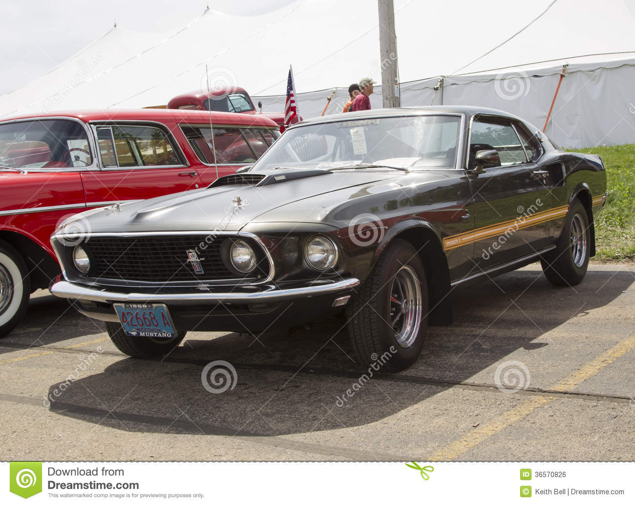 1969 Ford Mustang Mach 1 Side View Editorial Photo Image Of