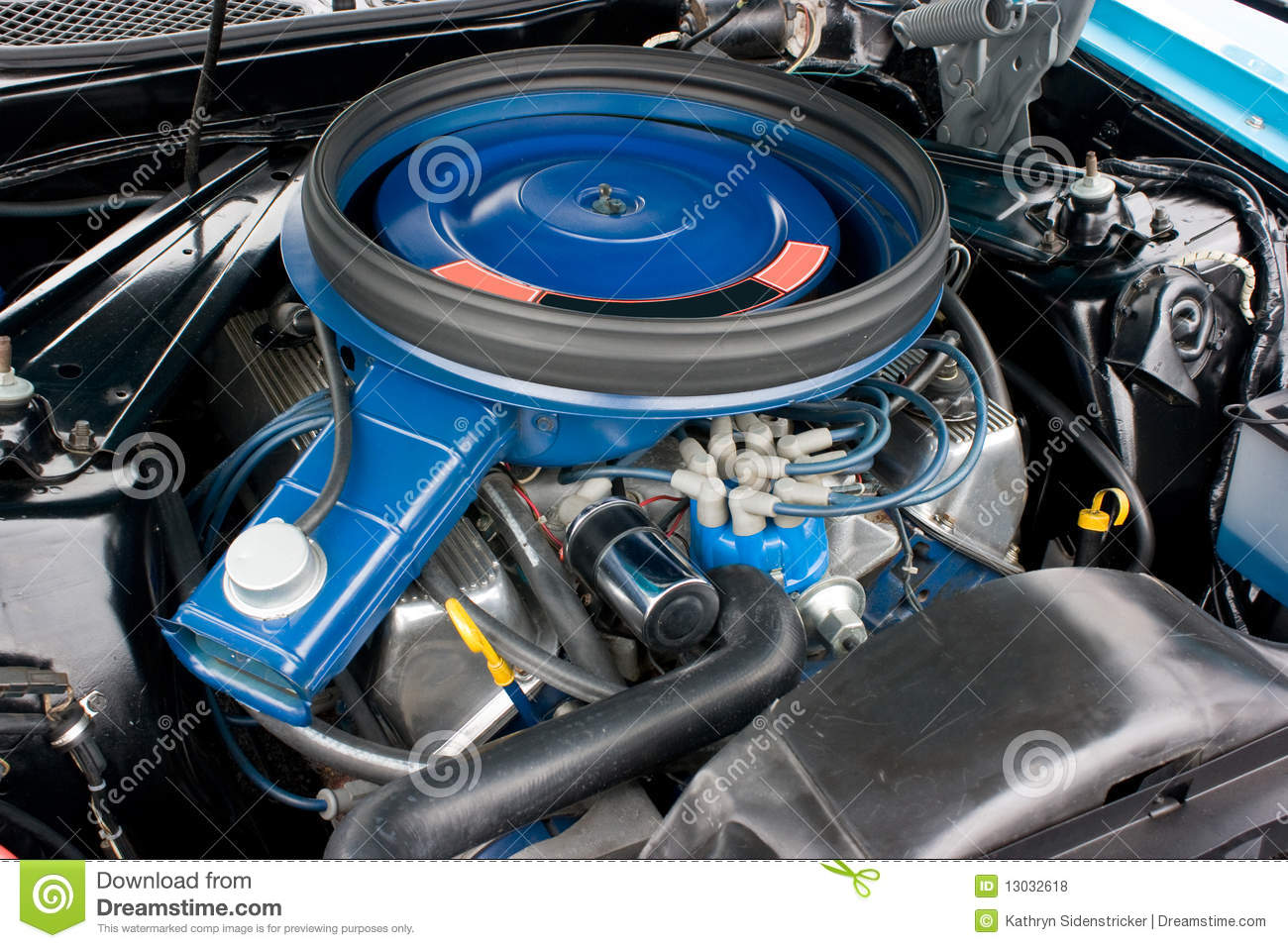 1971 Ford Mustang 8 Cylinder Engine 351c Stock Photo Image Of F100 Wiring Diagram Factory