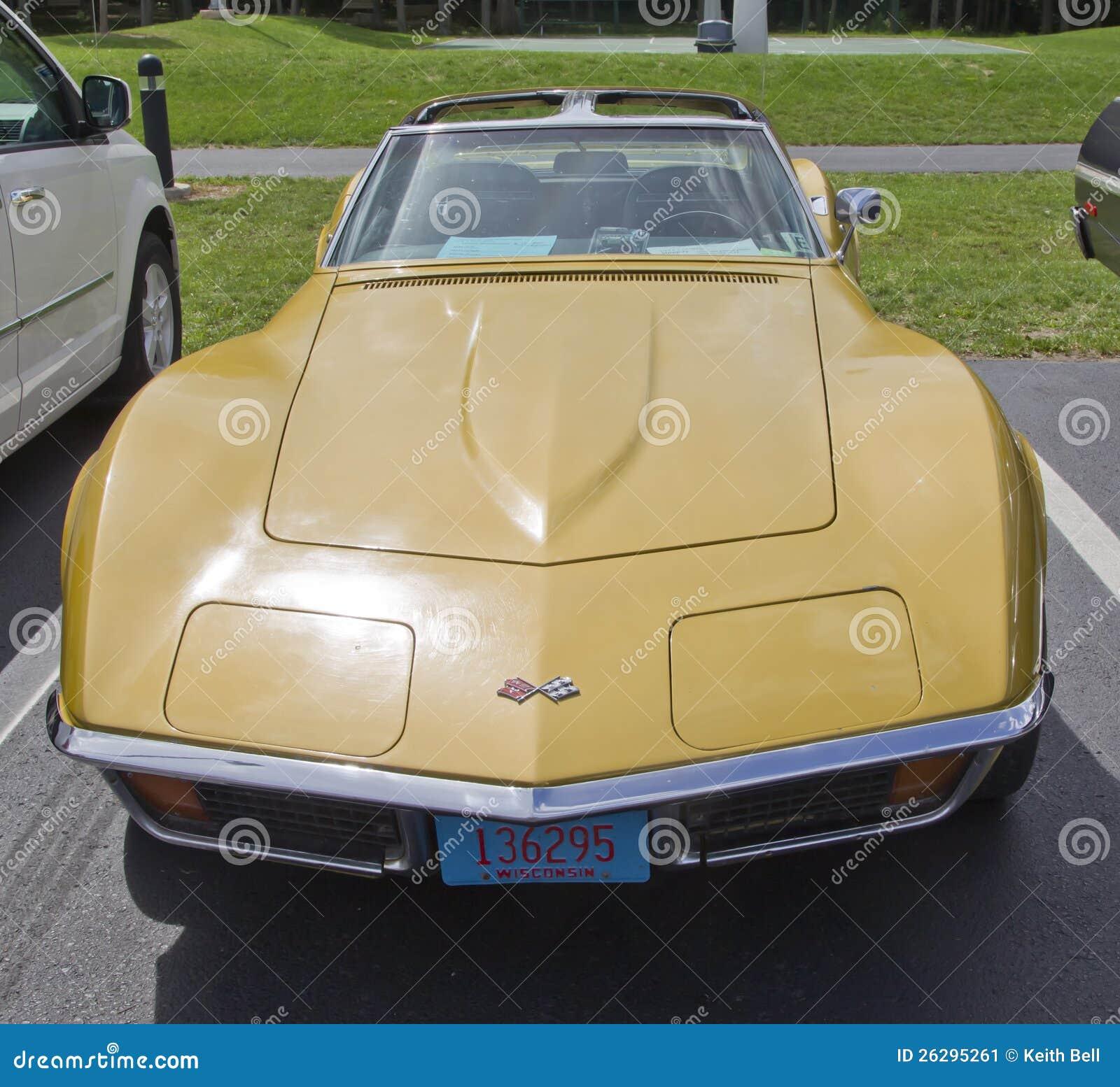 1972 Chevrolet Corvette Stingray Front View Editorial