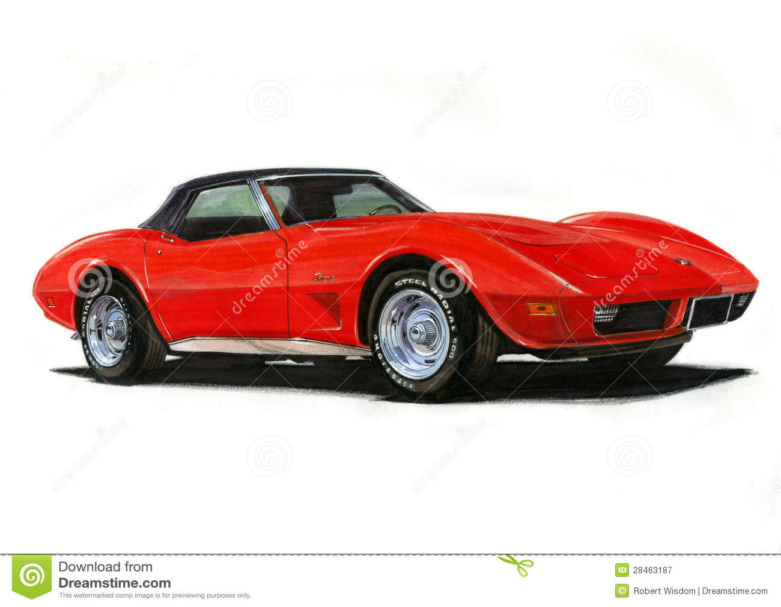 1974 Corvette Stingray Editorial Photography Image Of