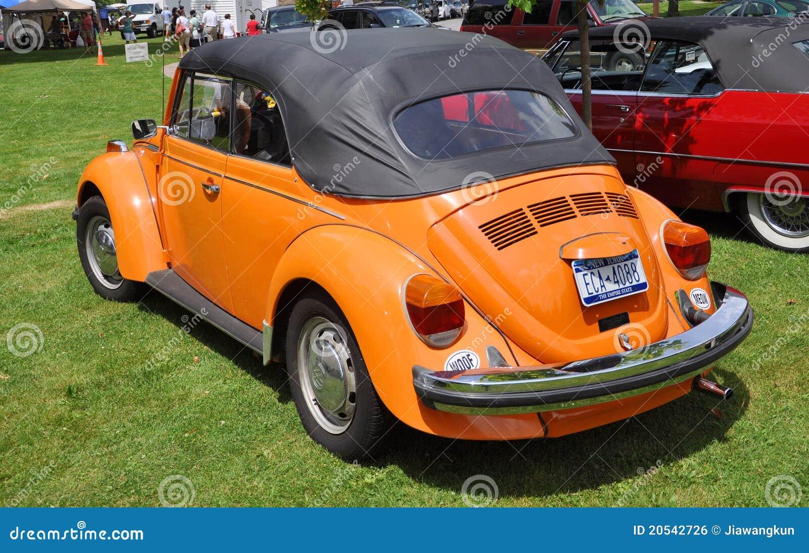 1976 orange volkswagen beetle editorial photo image 20542726. Black Bedroom Furniture Sets. Home Design Ideas
