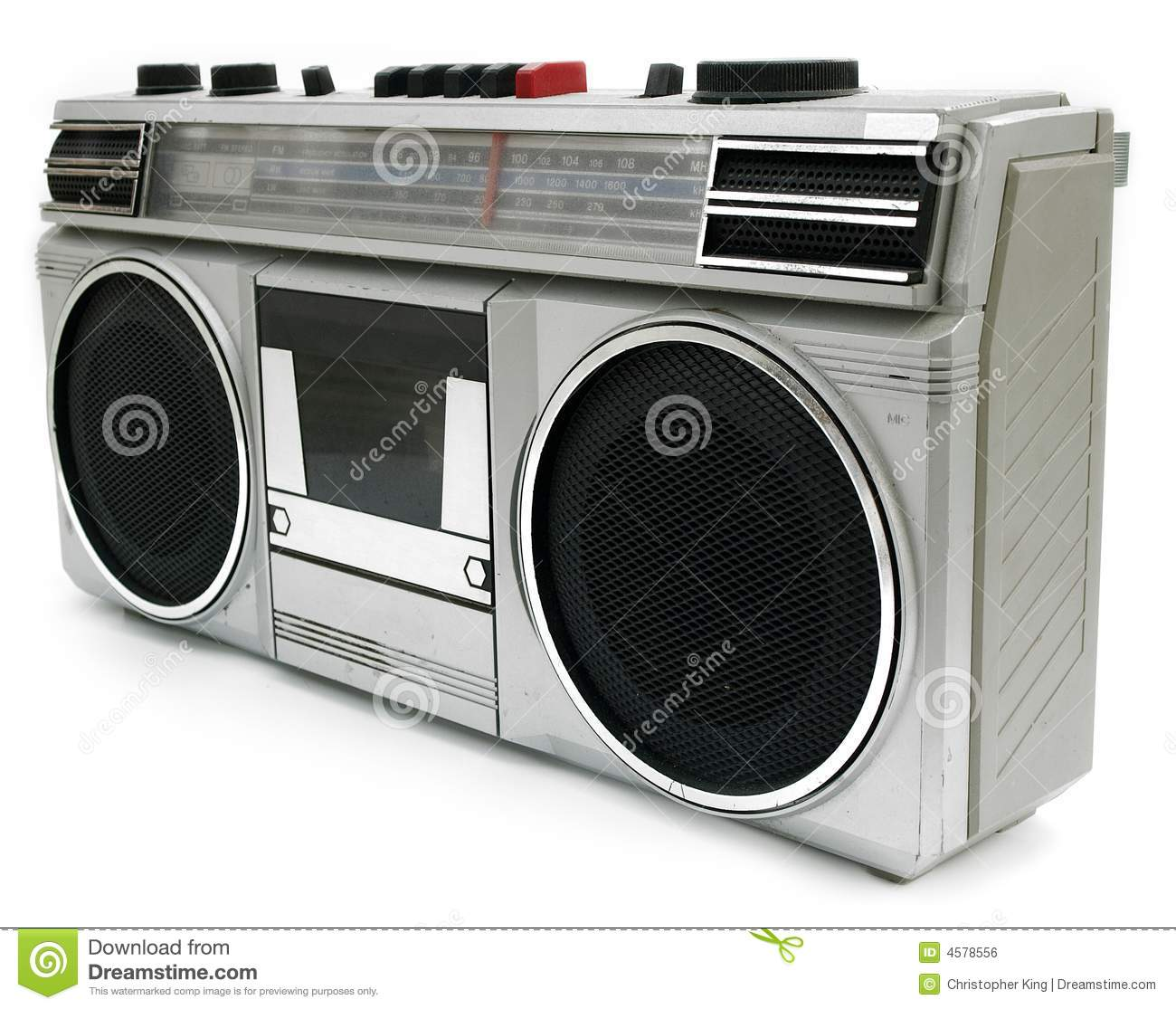 1980s boombox from 1980s stock photography - image: 12207712