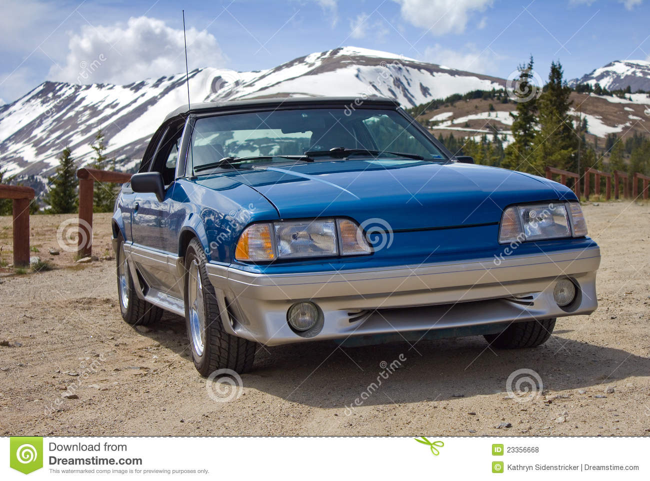 1989 Ford Mustang Convertible Blue