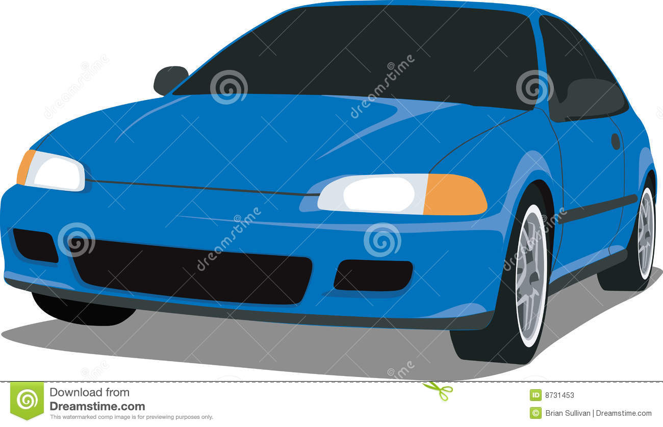 1992 Honda Civic Si Stock Vector Illustration Of Blue 8731453 1970 Download
