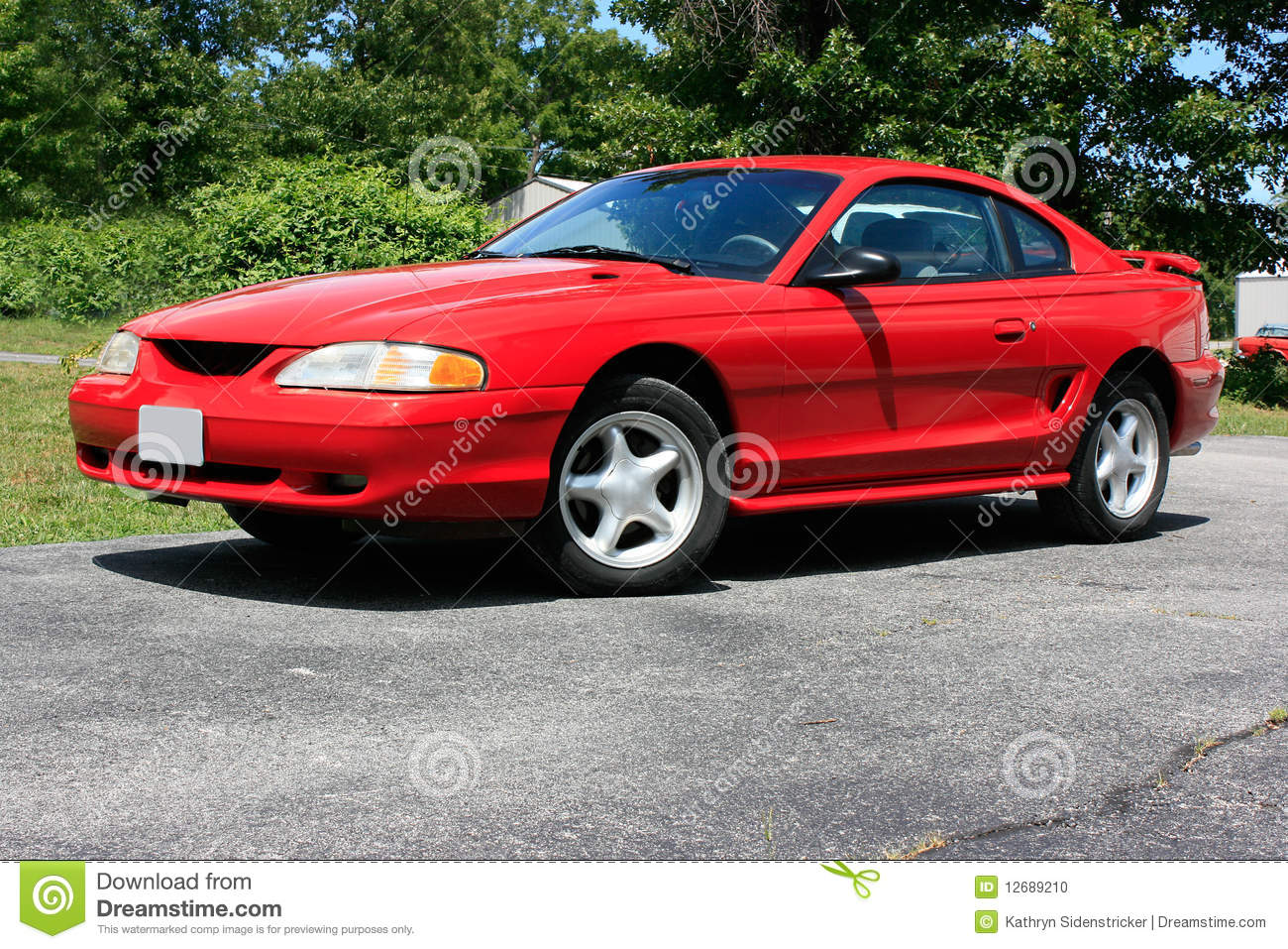 1994 ford mustang coupe gt stock photo image of stripes 12689210. Black Bedroom Furniture Sets. Home Design Ideas