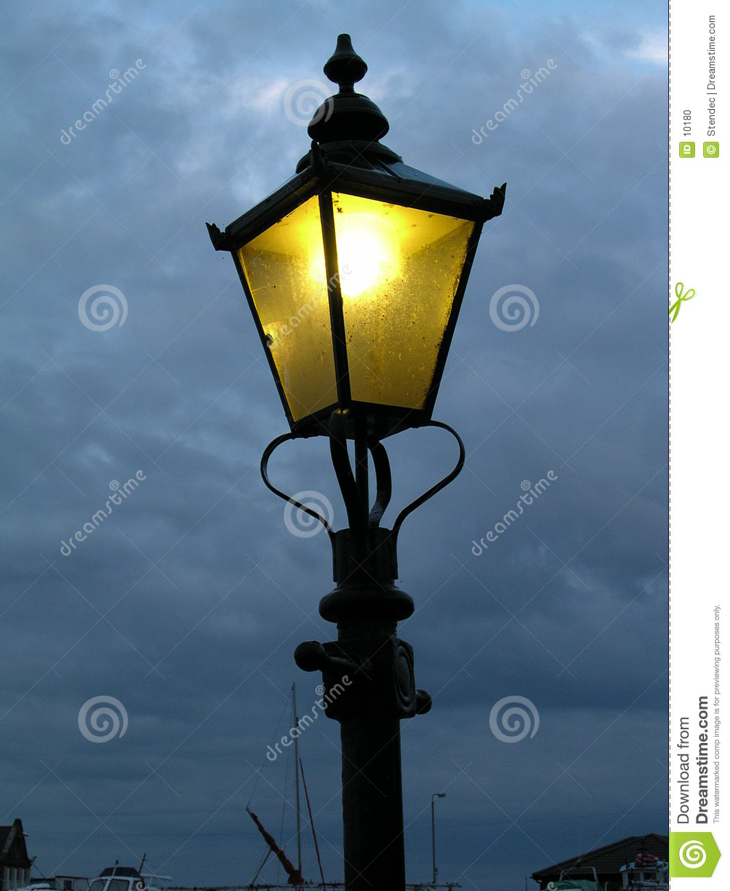 Post: 19th Cent Lamppost Stock Photo