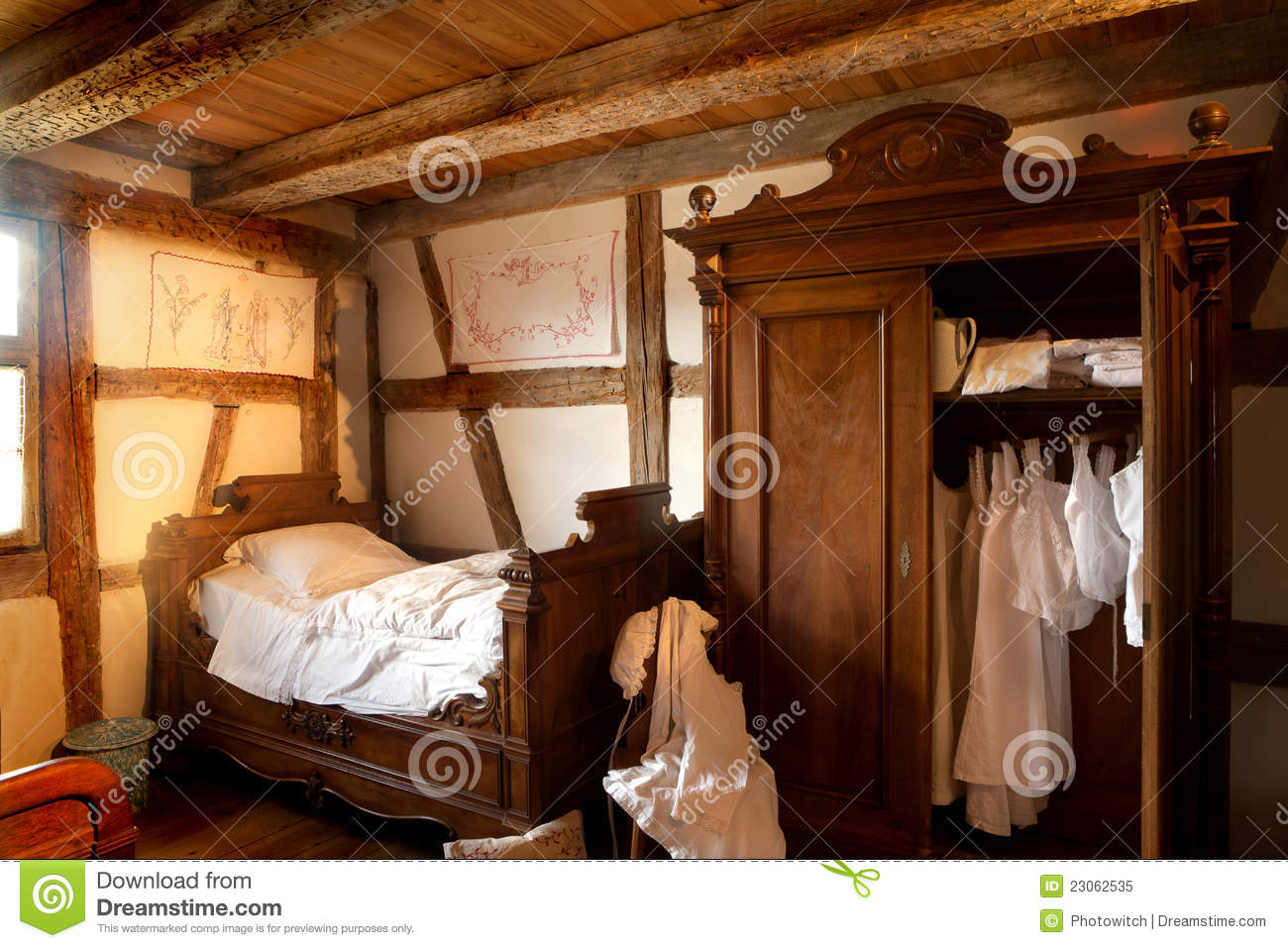 19th Century Bedroom Royalty Free Stock Photo Image