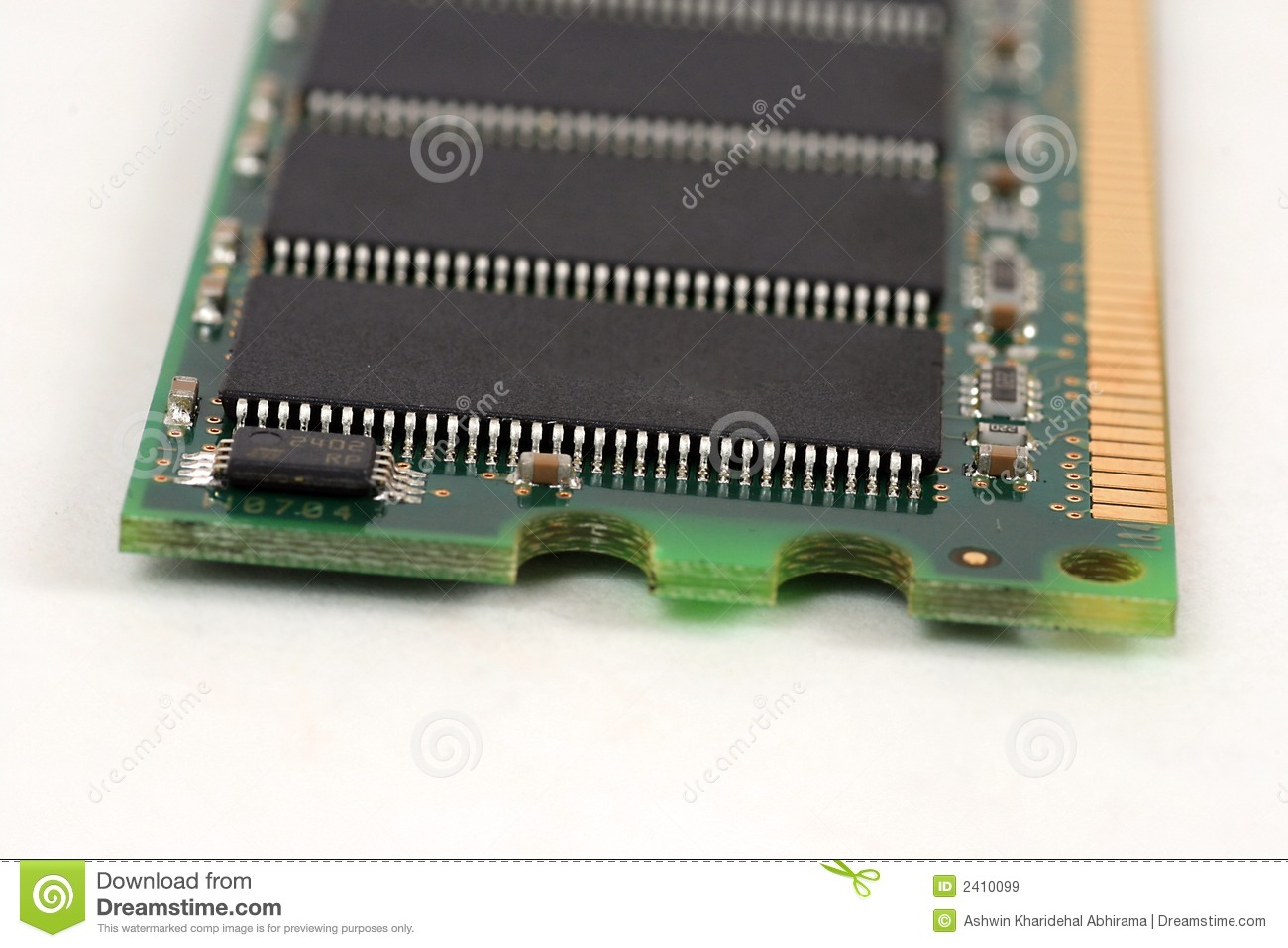 1GB DDR SDRAM Close Up Stock Image Image Of Chip Technology