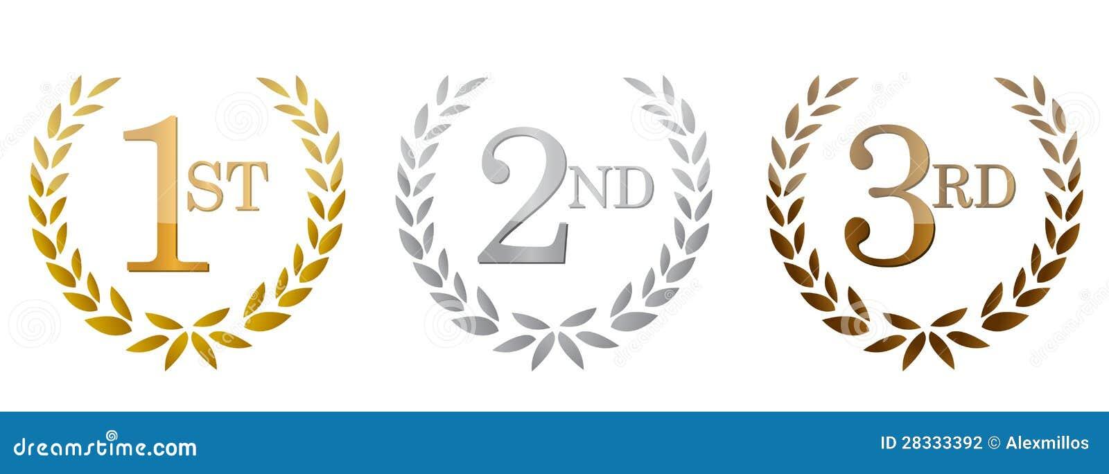 1r; 2do; emblemas de oro de las 3ro concesiones.