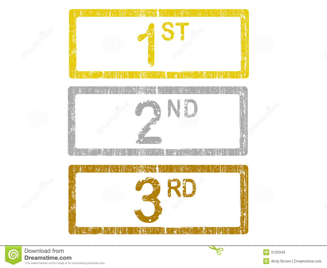 2nd place stock vector illustration royalty free 2nd place clipart - 1st 2nd And 3rd Stock Photo Image 3133340