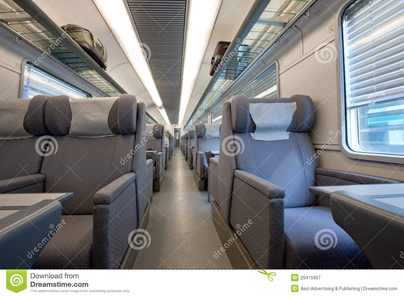 1st class modern train car interior stock image image 20415967. Black Bedroom Furniture Sets. Home Design Ideas
