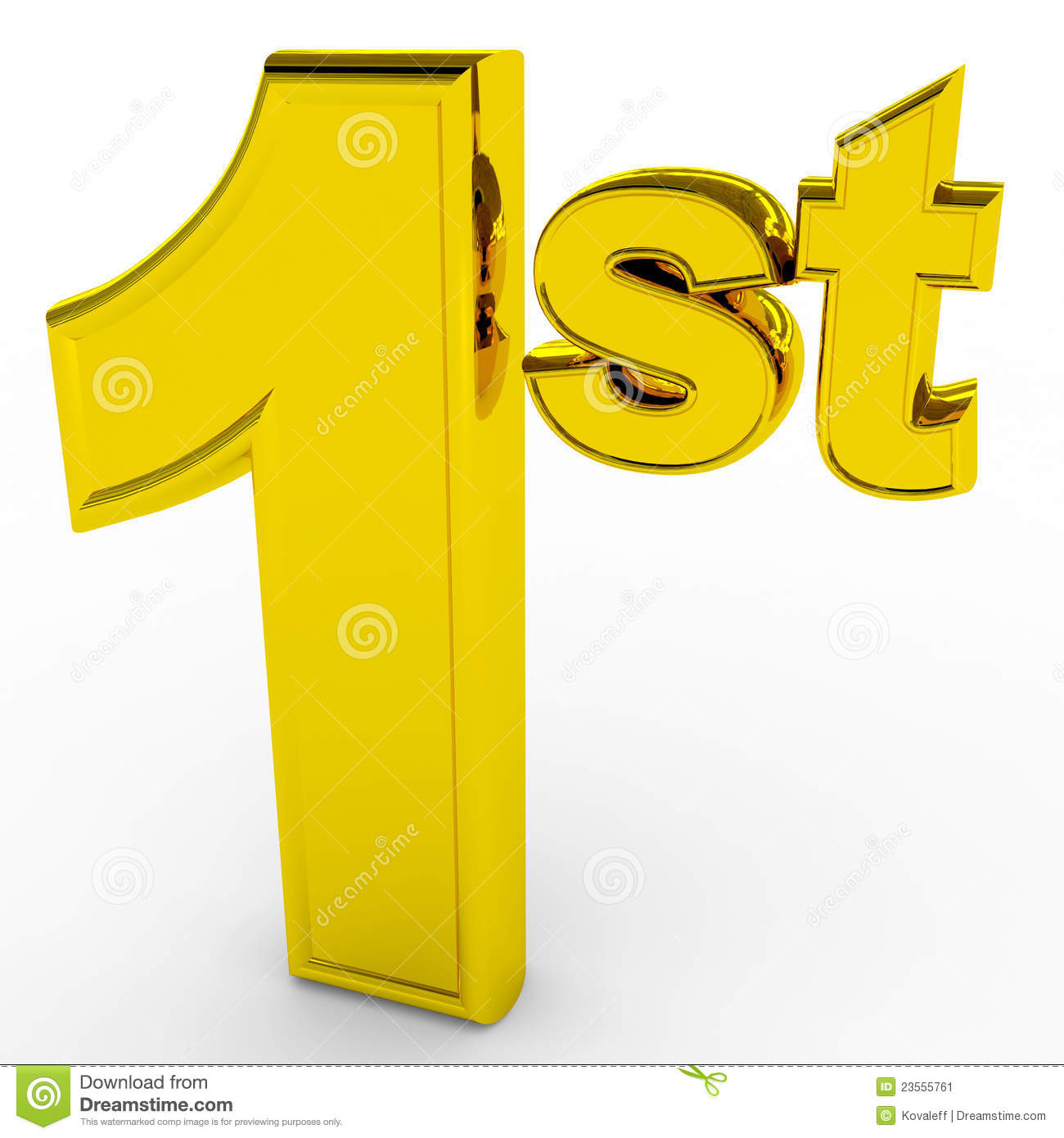 1st Place. Gols Sign. Stock Image - Image: 23555761