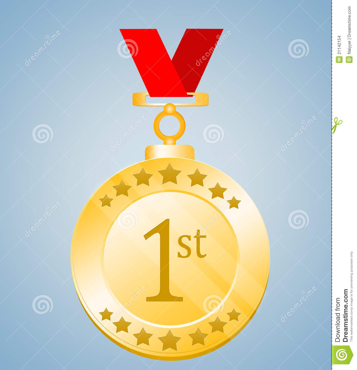 Stock Images 1st Position Medal Image21142154 on award ceremony background
