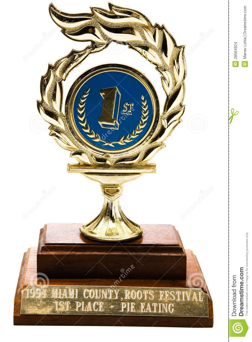 1st Prize Trophy Stock Images Image 28564924