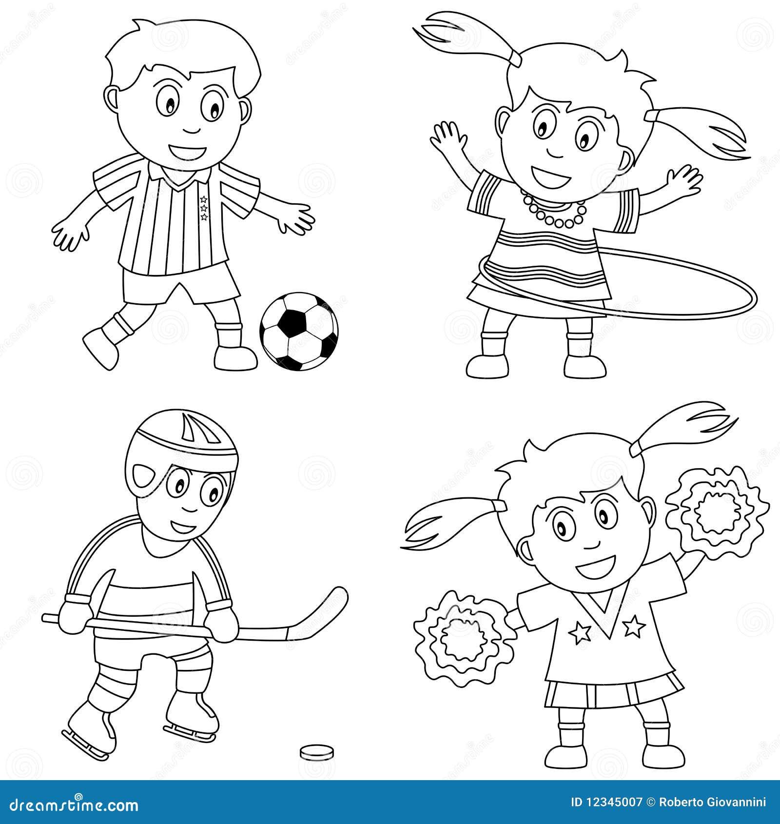 2个上色孩子体育运动