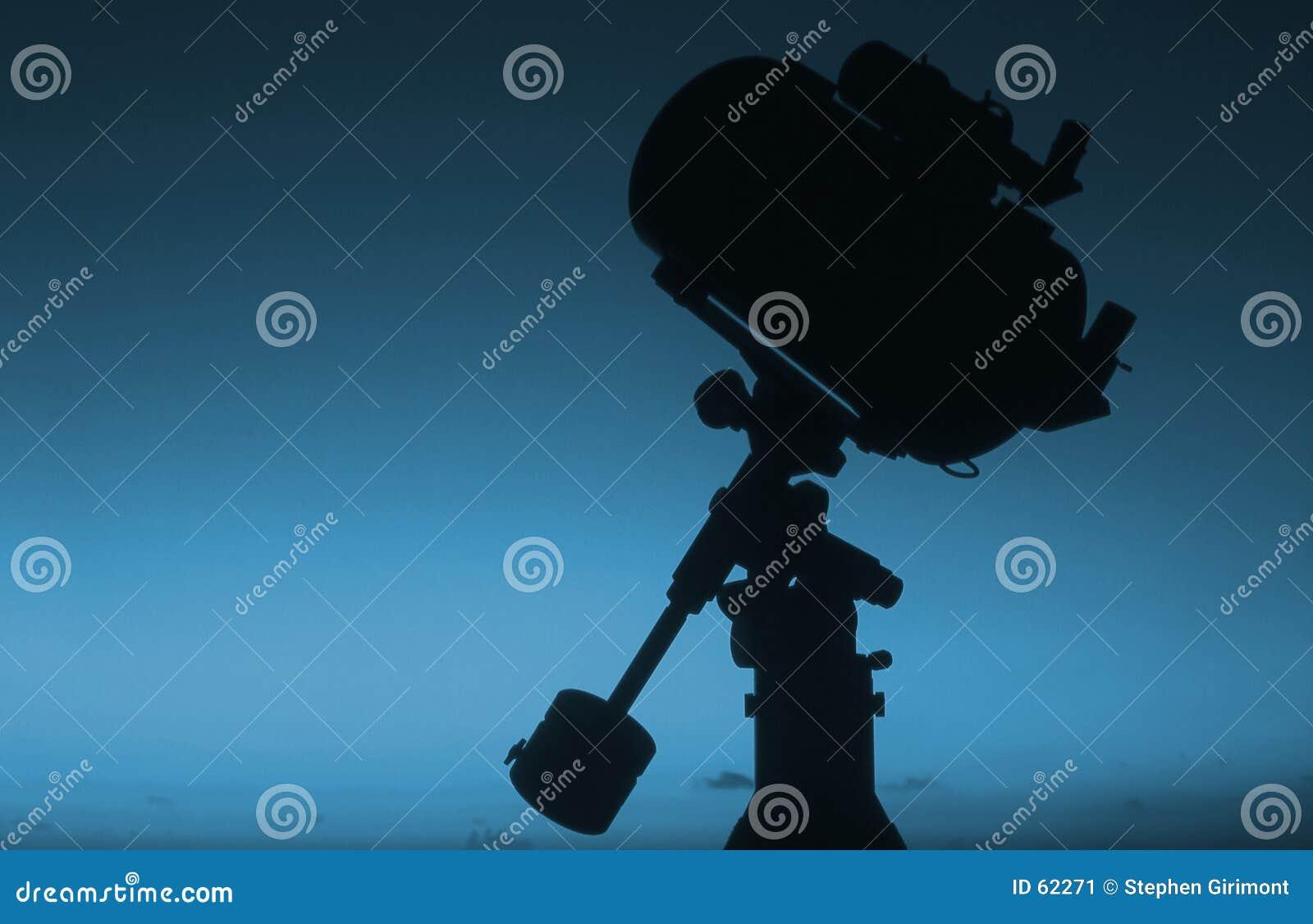2个剪影日出望远镜