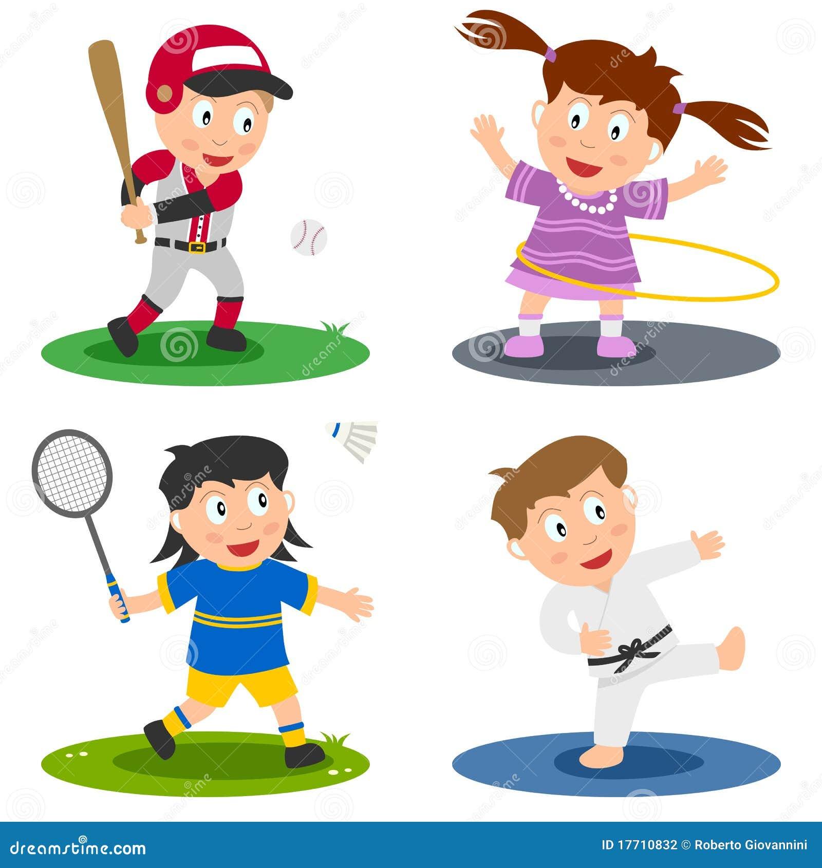 2个收集孩子体育运动