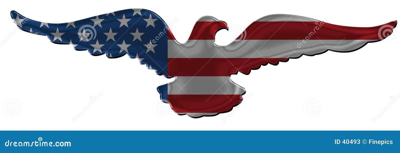 2个美国人徽章老鹰