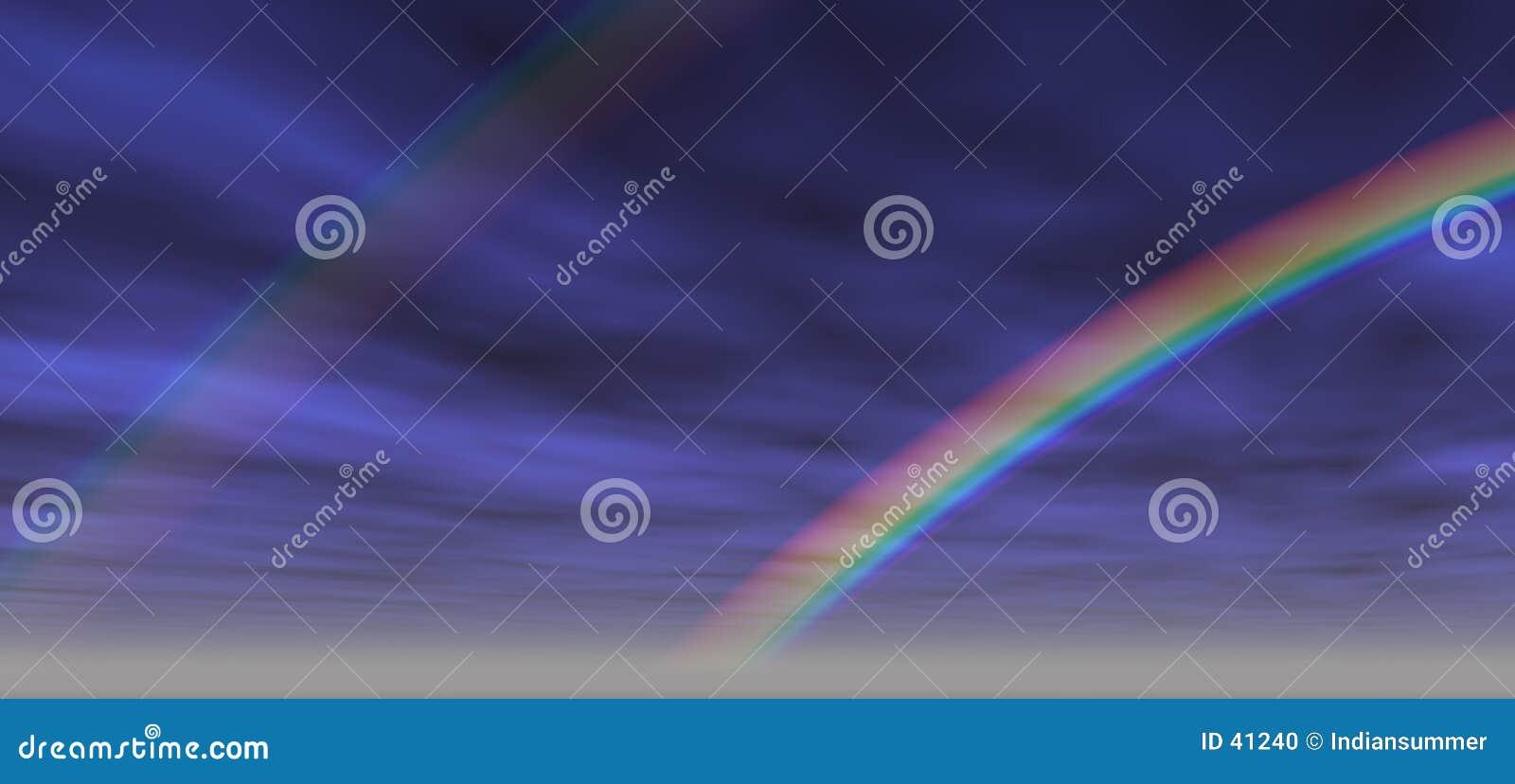 2个背景彩虹