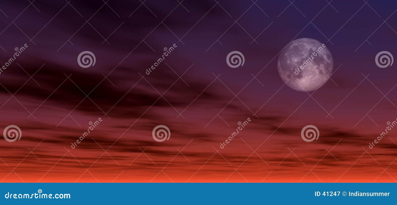 2个背景月光