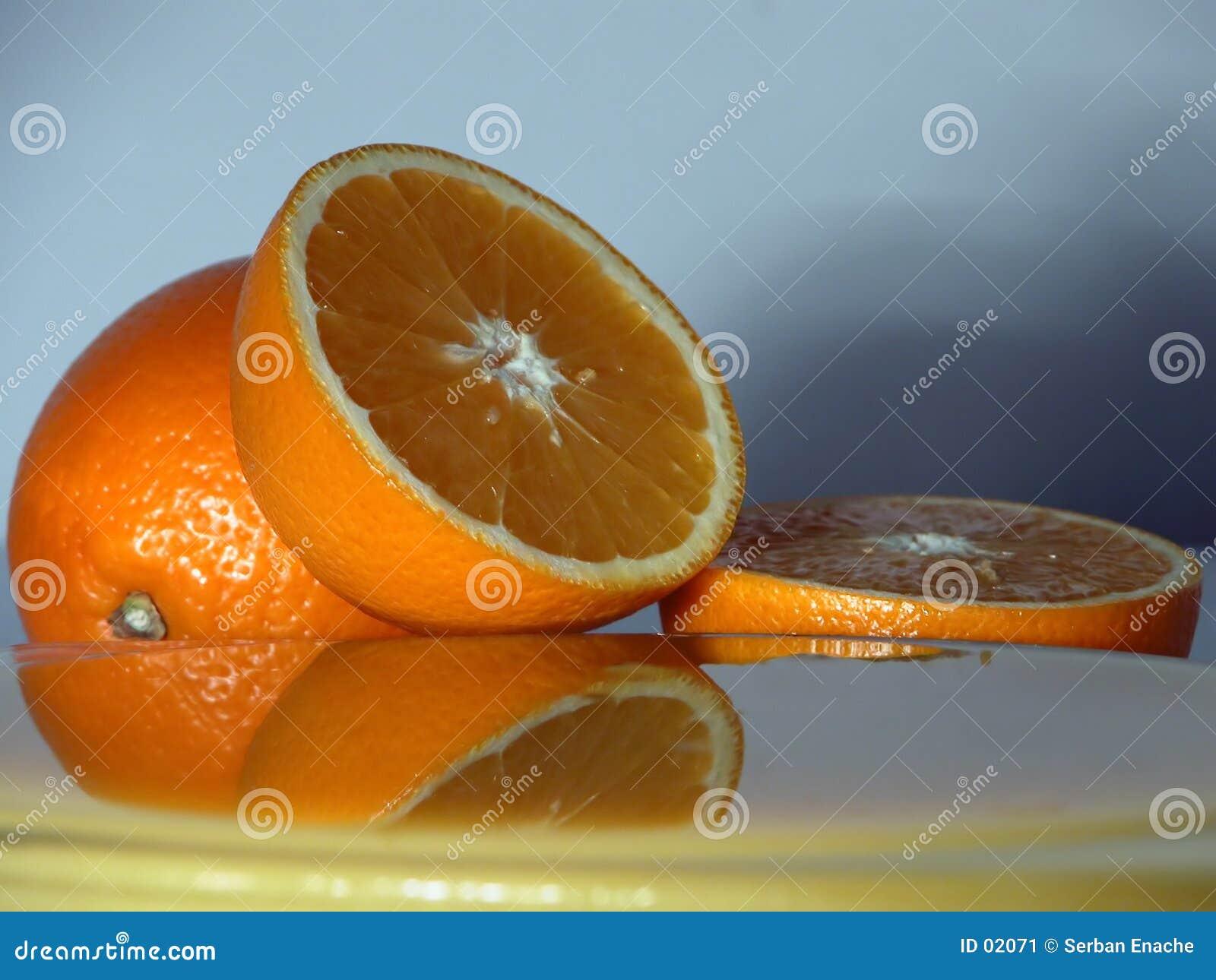 2新近地被紧压的橙色方案