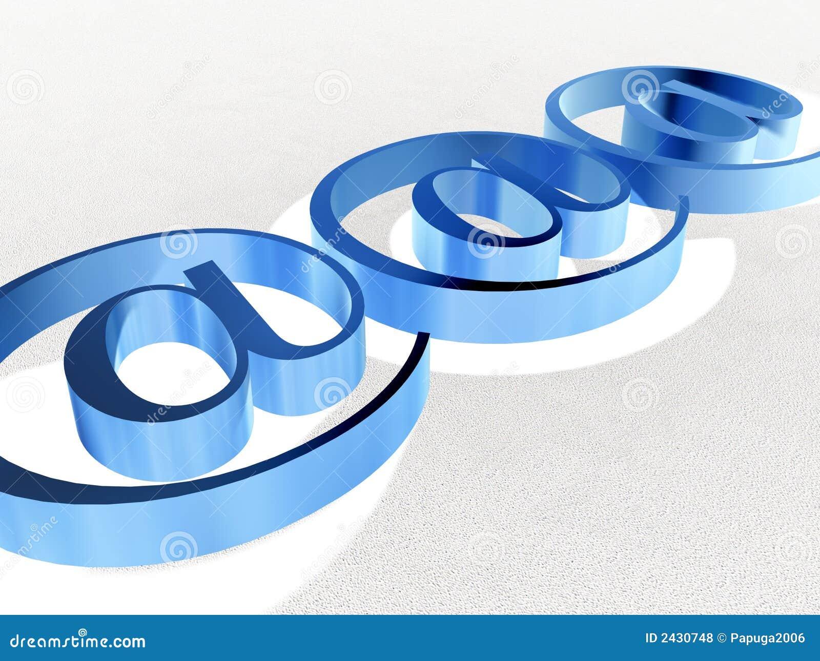 2蓝色符号万维网