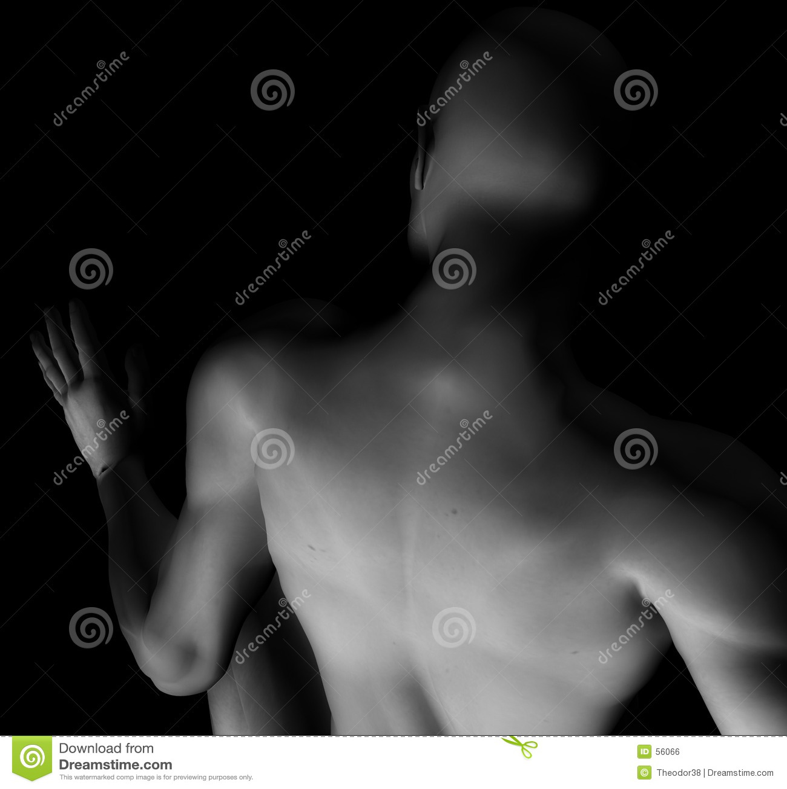 Download 2 αρσενικός nude απεικόνιση αποθεμάτων. εικονογραφία από άσπρος - 56066