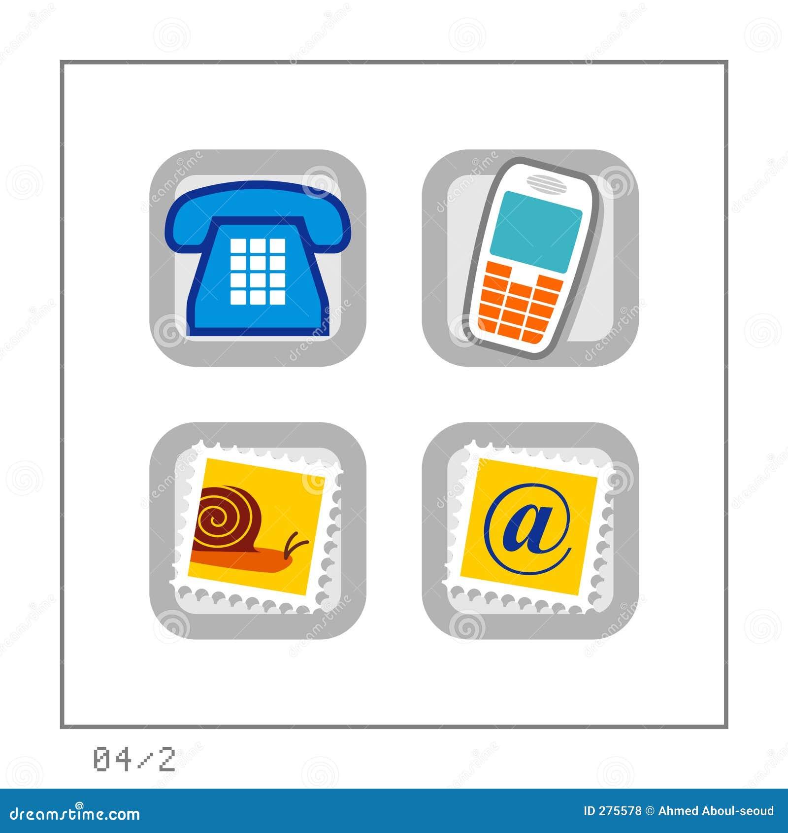 2 καθορισμένη έκδοση εικονιδίων 04 επικοινωνίας