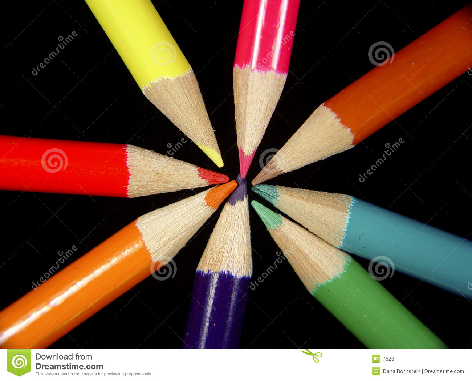 2 χρωματισμένα μολύβια