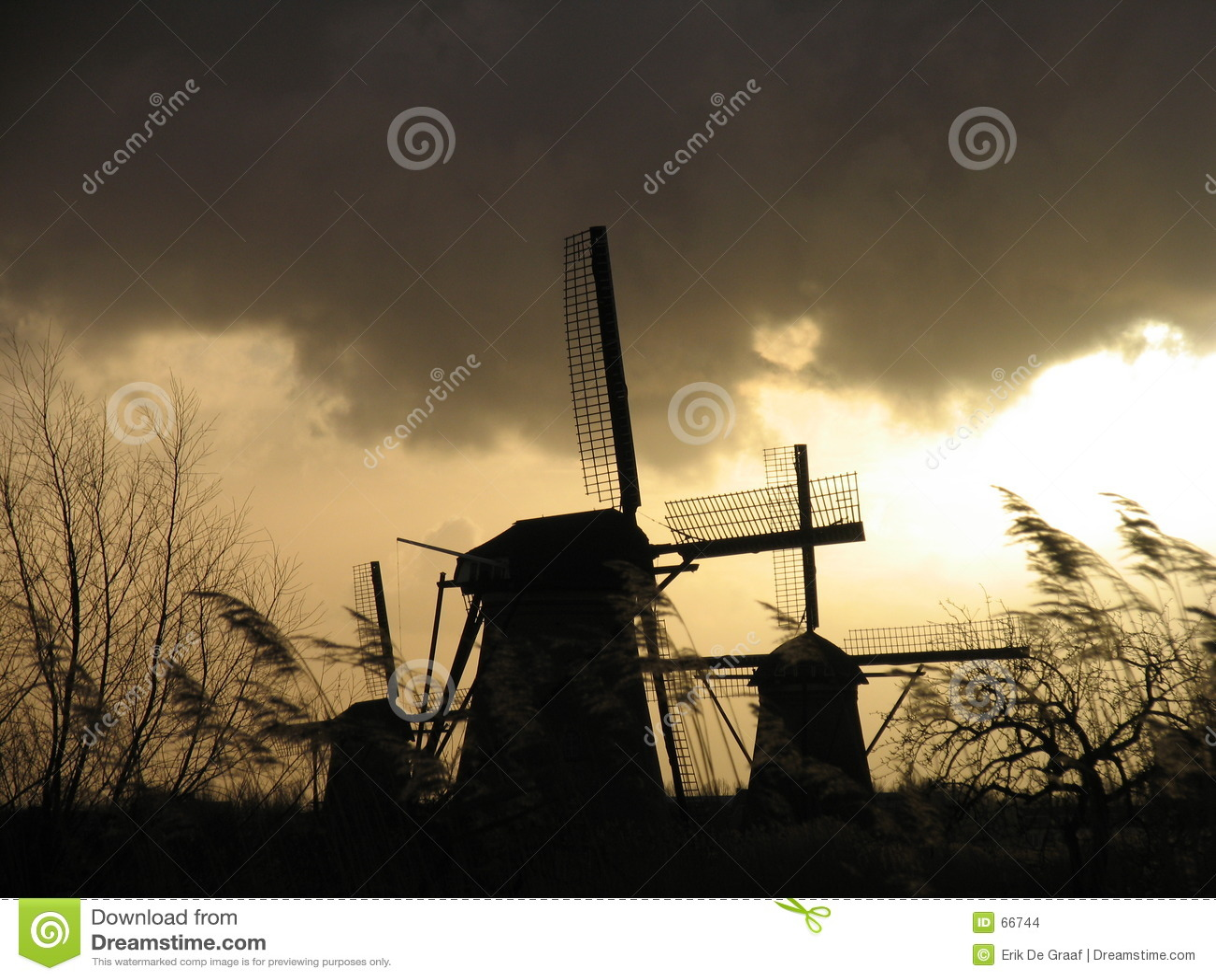 2 голландских ветрянки kinderdijk